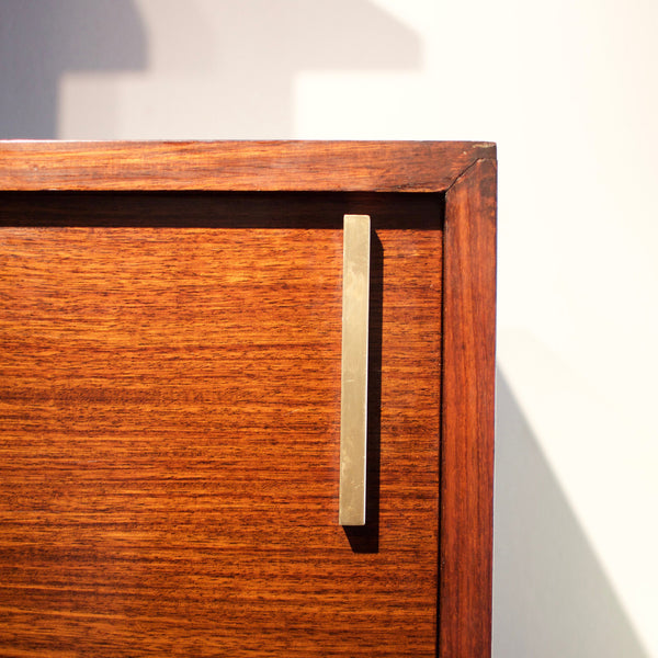 Rosewood, Lacquered Wood and Brass Bookcase by Amma