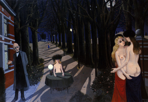 Douce Nuit by Paul Delvaux. 1962.