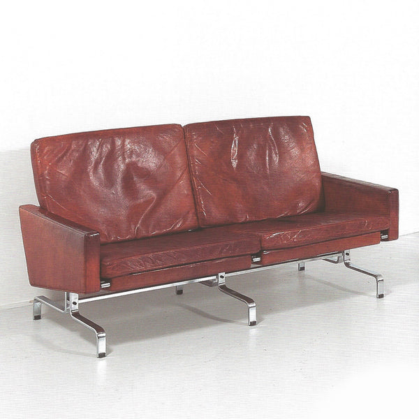 Pair of leather sofas by Poul Kjaerholm