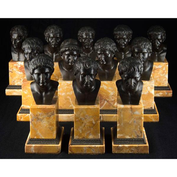 Set of 11 roman emperors busts