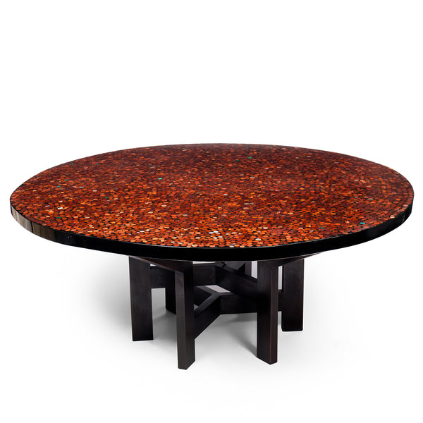 Backlit dining room table by Ado Chale