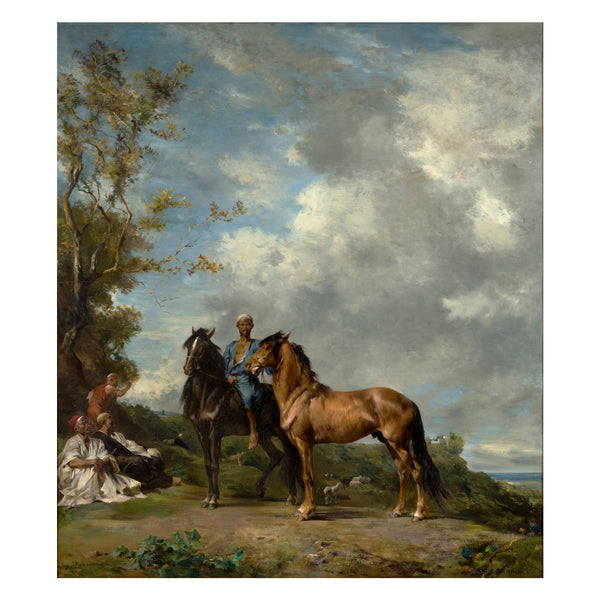 Equestrian oil painting