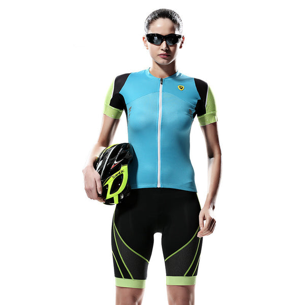 Women's Fashion Breathable Short Sleeve Cycling Jerseys Sets