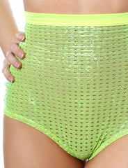 Shiny Mesh High Waisted Panty