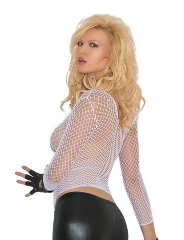 Fishnet Long Sleeve Cami