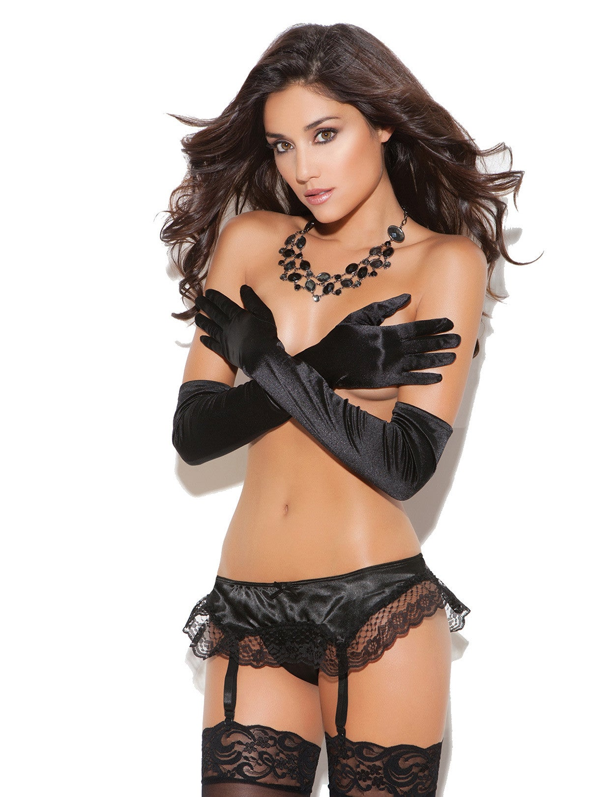 Sleek Satin Garter - just damn sexy  - 5