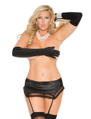 Plus Size Sleek Satin Garter - just damn sexy  - 1