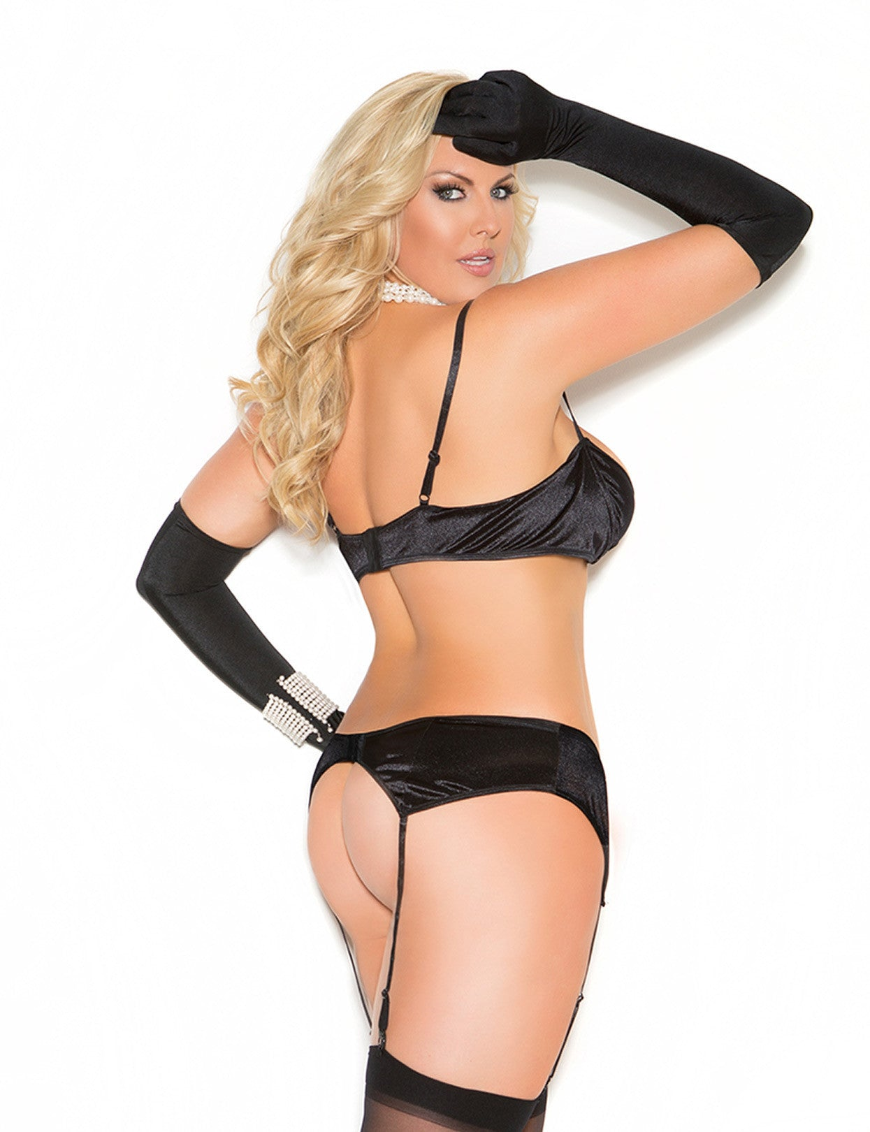 Plus Size Stretch Satin Garter - just damn sexy  - 2