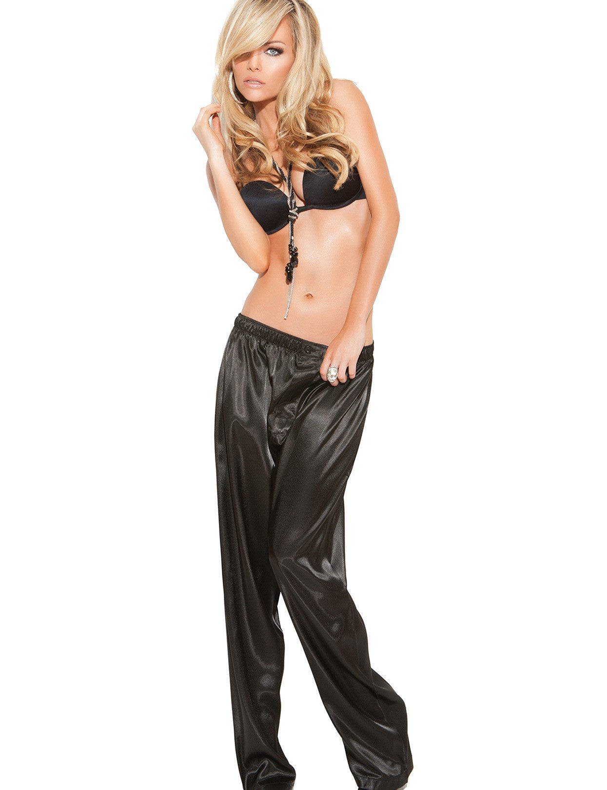 Sleek Satin Unisex Pant - just damn sexy