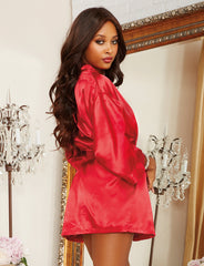 Shalimar Charmeuse Short Kimono Robe Set - just damn sexy  - 4