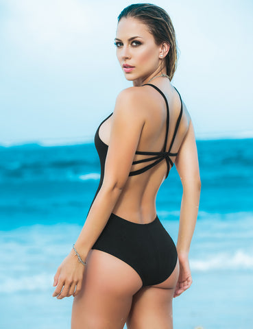Strappy Back One Piece