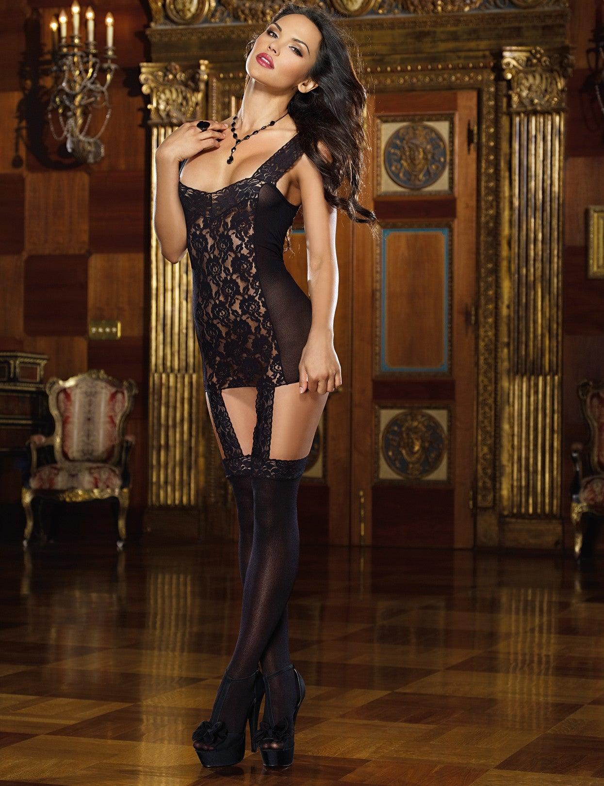 Tahiti Hosiery Garter Dress - just damn sexy  - 1
