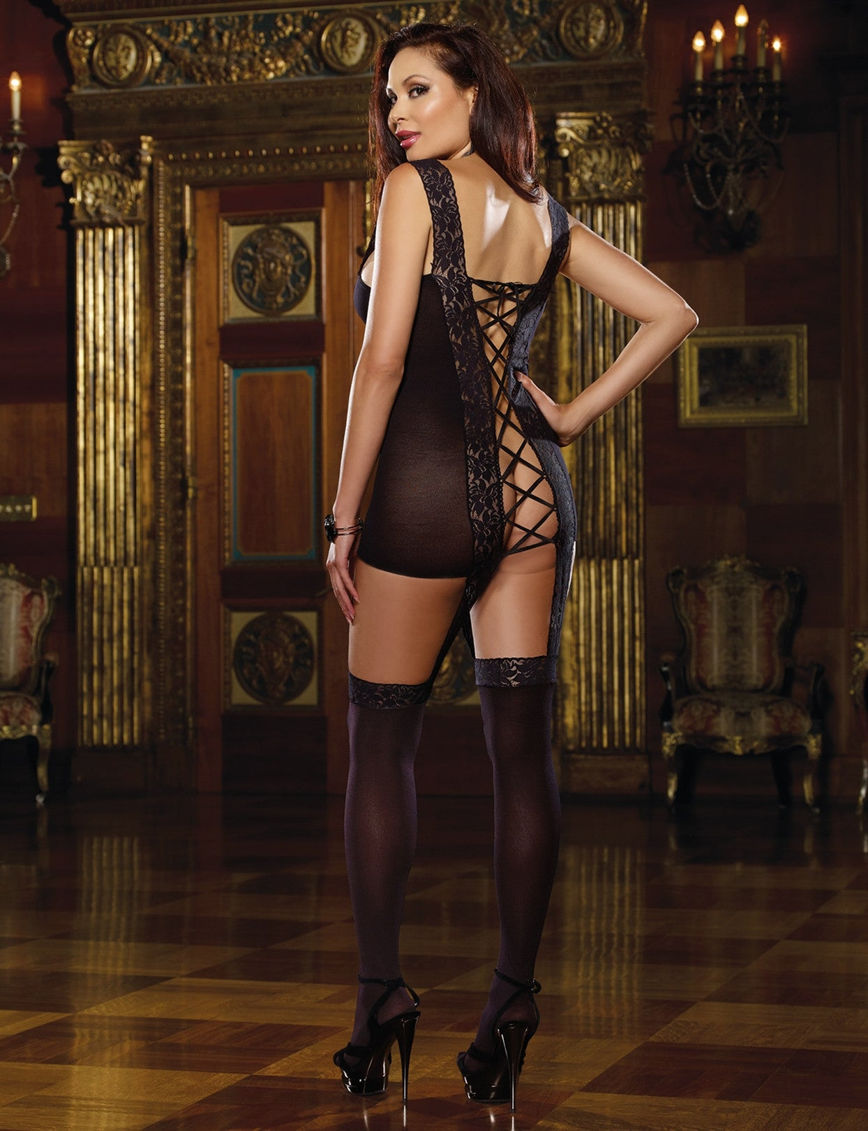 Plus Size Tahiti Hosiery Garter Dress - just damn sexy  - 2