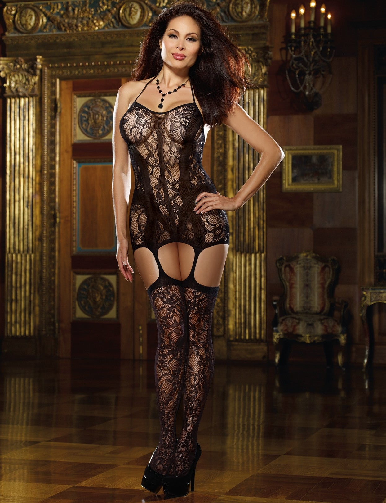 Plus Size Trinidad Hosiery Garter Dress - just damn sexy  - 1
