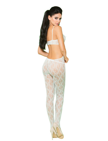 Lace Cut-Out Bodystocking