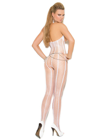 Open Bust Crochet Bodystocking