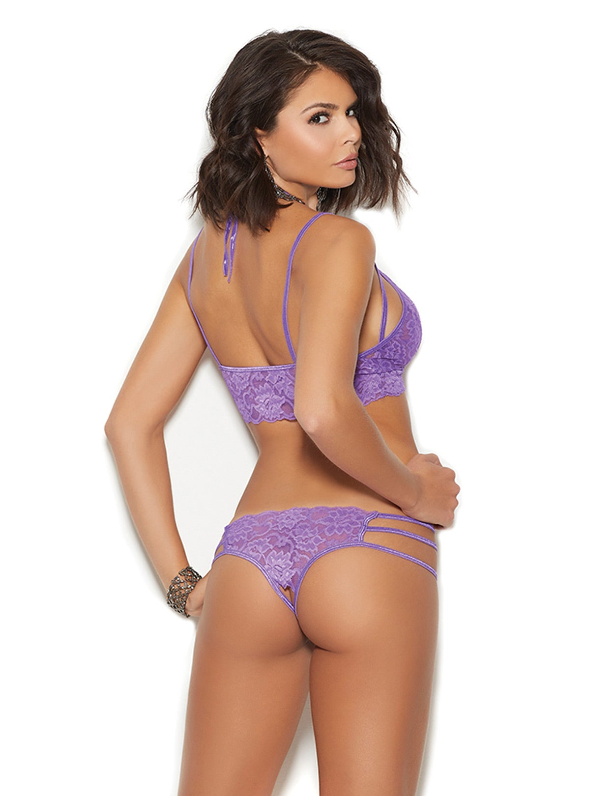 Crotchless Brazilian Panty Set