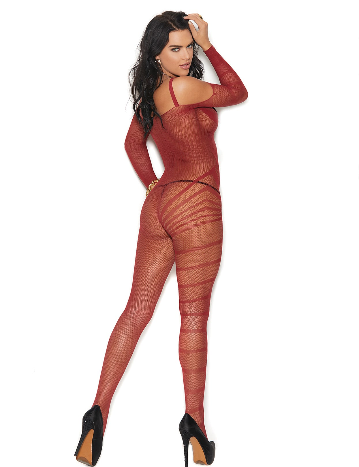 Crochet Burnout Bodystocking