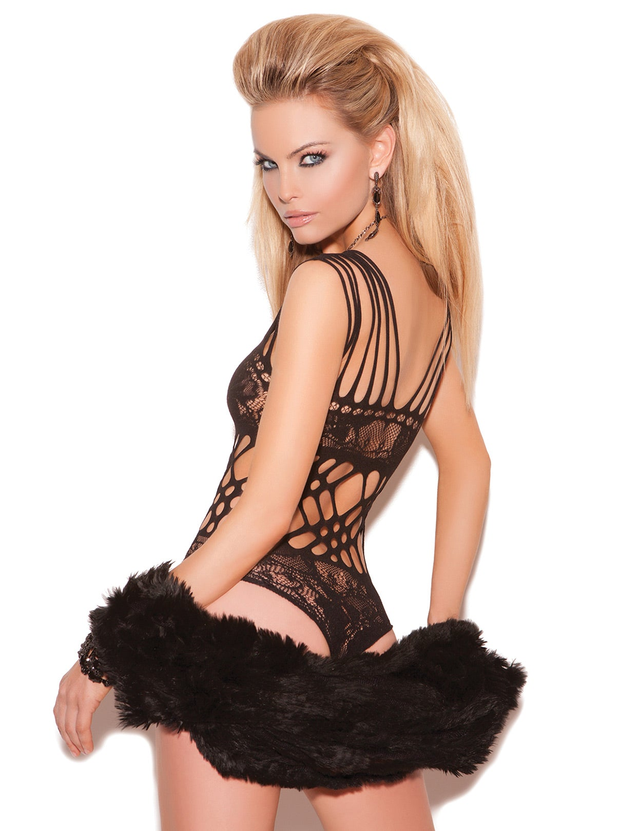 Lace Cut-Out Teddy