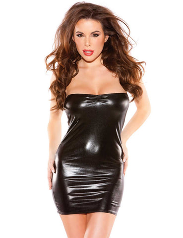 Kissable Kitten Vinyl Mini Dress - just damn sexy  - 1