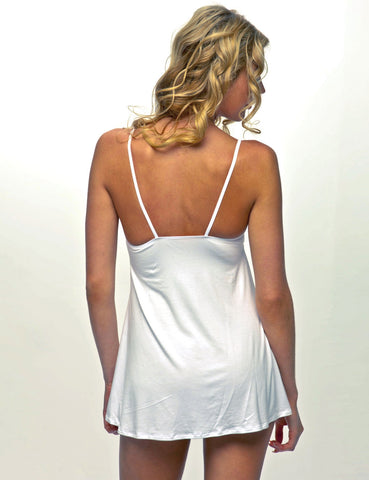 Silk Jersey Chemise With Stretch Lace