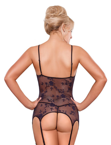 Plus Size Black Widow Merry Widow and G-String