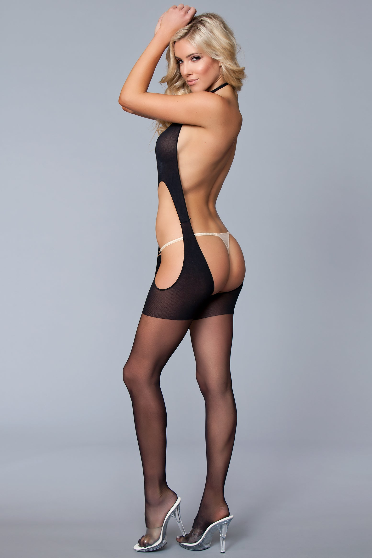 Open Back Criss Cross Bodystocking