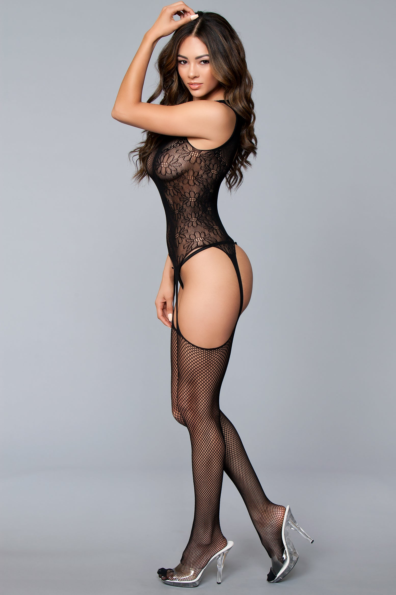 Halter Top Suspender Lace Bodystocking