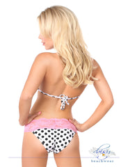 Pin-Up Polka Dot Pucker Back Lace Bikini - just damn sexy  - 4