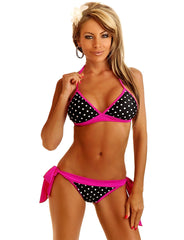 Pin-Up Polka Dot Pucker Back Bikini - just damn sexy  - 1