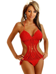 Red Crochet Monokini - just damn sexy  - 1