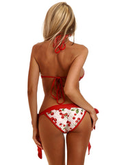 Cherry Pin-Up Pucker Back Bikini - just damn sexy  - 2