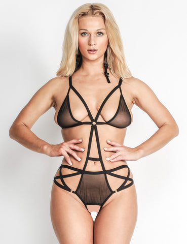 Crotchless Playsuit Body Teddy