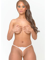 Micro Crotchless G-String With Beads - just damn sexy  - 1