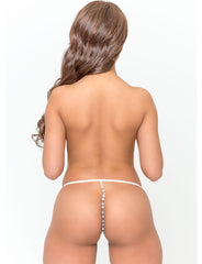 Micro Crotchless G-String With Beads - just damn sexy  - 2
