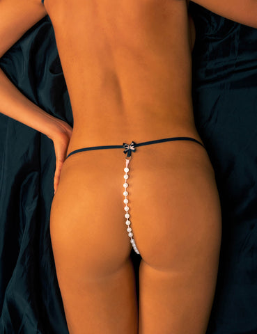 Faux Pearl Beads G-String