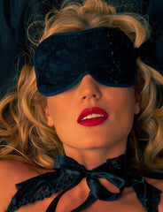 Black Lace Sleep Mask - just damn sexy  - 1