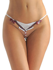 Crotchless G-String with Candy Cane Bead Strand - just damn sexy  - 3