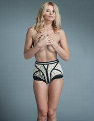 High Waisted Rayon Lace Panties