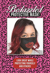 Rhinestone Lips Face Mask