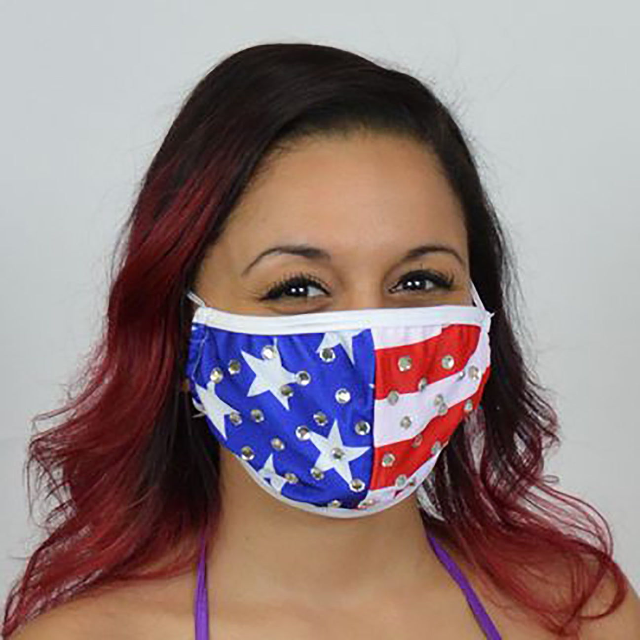 Rhinestone Patriotic Face Mask