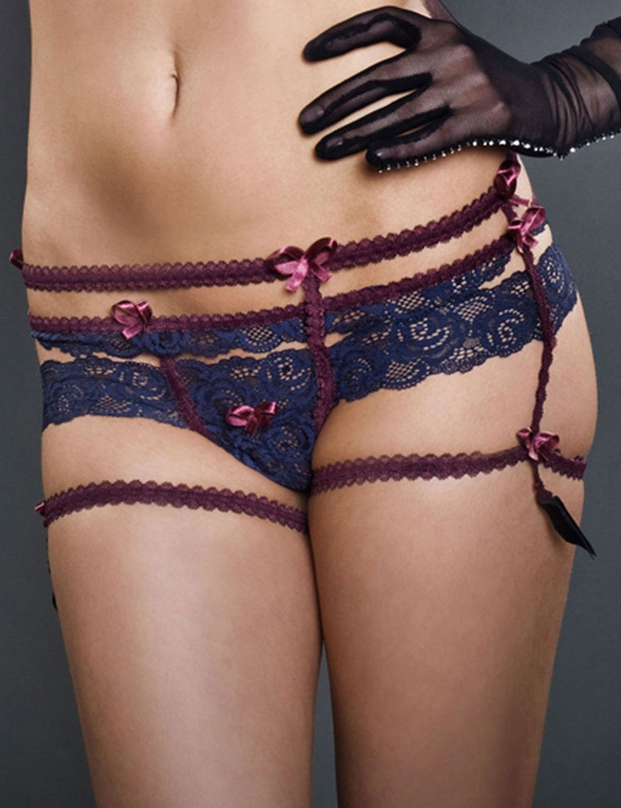 Victorian Cheeky Look G-String Garter Belt Frances - just damn sexy  - 1