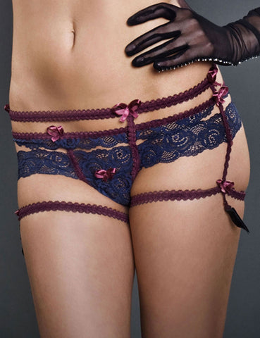 Victorian Cheeky Look G-String Garter Belt Frances