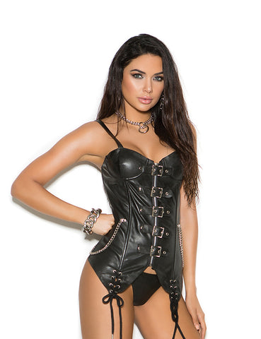 Plus Size Leather Bustier