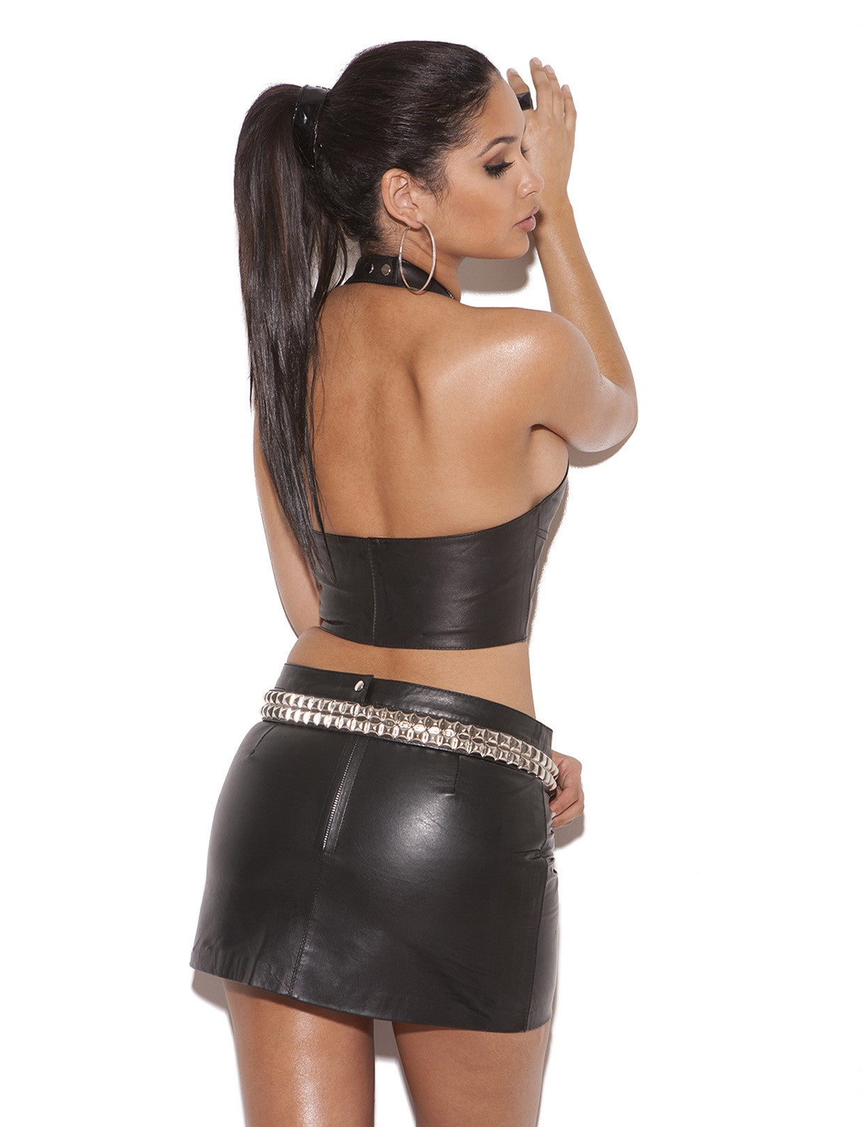 Leather Pencil Mini Skirt - just damn sexy  - 2