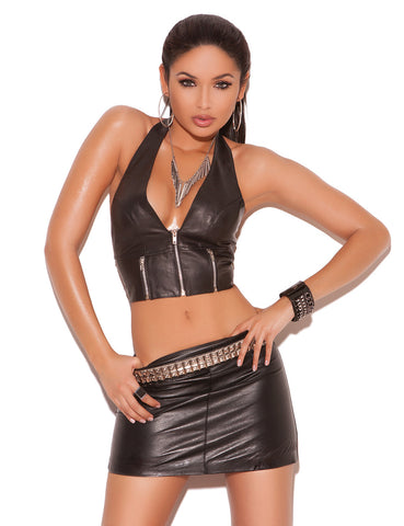 Leather Pencil Mini Skirt - just damn sexy  - 1
