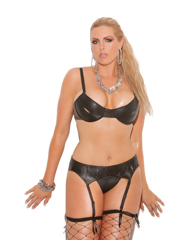 Plus Size Leather Garter Belt