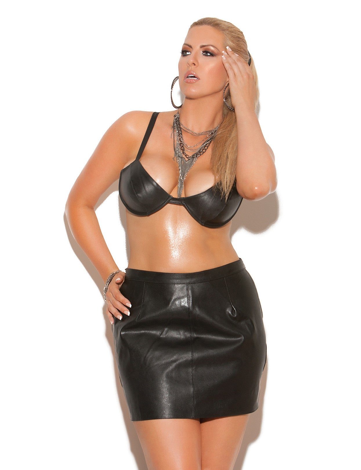 Plus Size Leather Spanking Skirt - just damn sexy  - 1