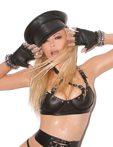 Leather Dominatrix Hat - just damn sexy