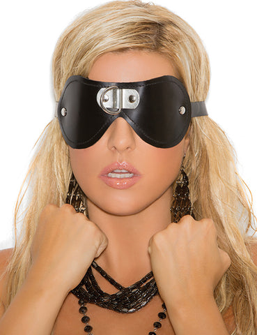 Leather D Ring Blindfold
